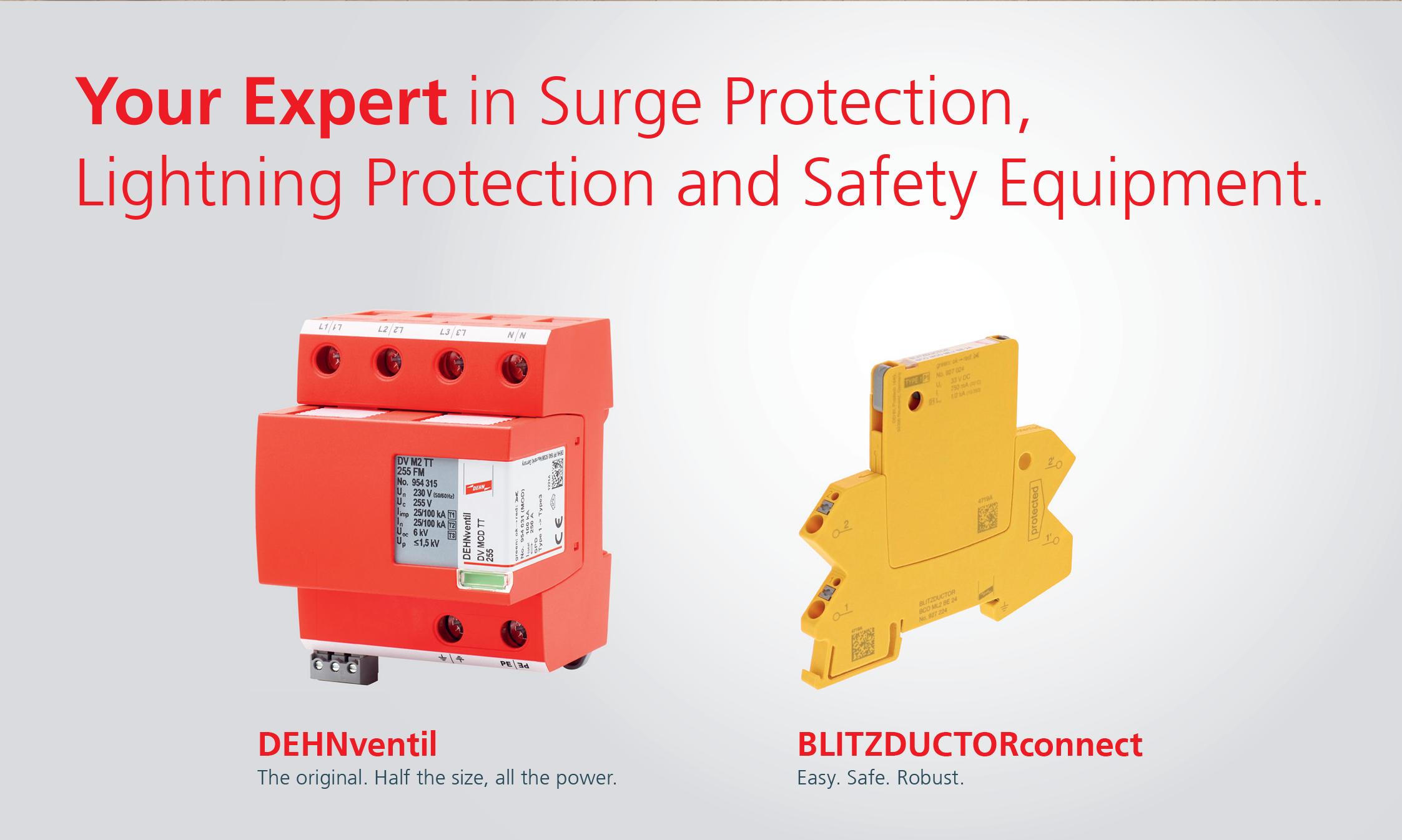 DEHNventil for Lightning & Surge Protection at Half the Size!